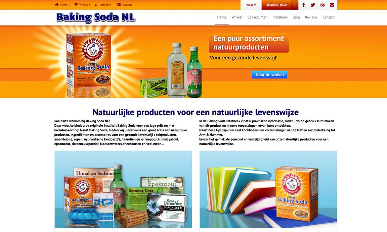 Webdesign voor Bakingsoda Nederland