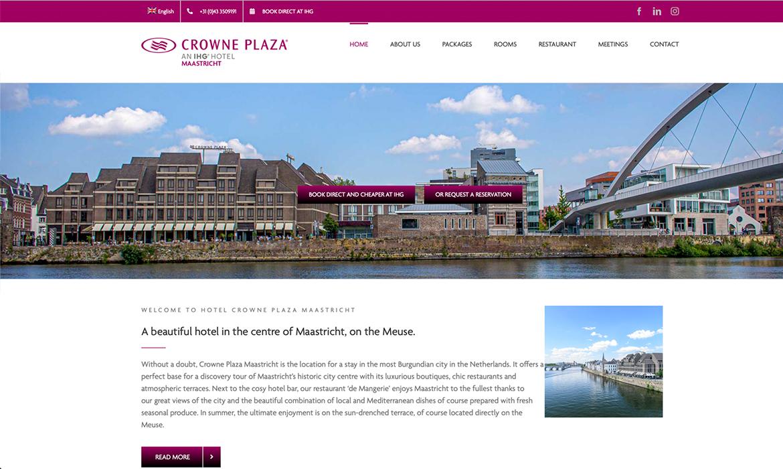 Webdesign voor Crowne Plaza Maastricht