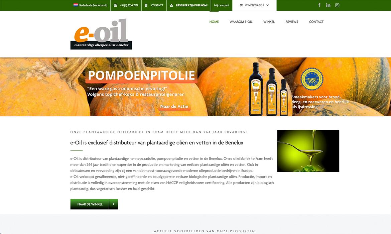 Webdesign voor eOil Benelux