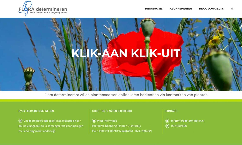 Webdesign voor Flora van Nederland