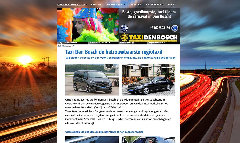Webdesign voor Taxi Den Bosch